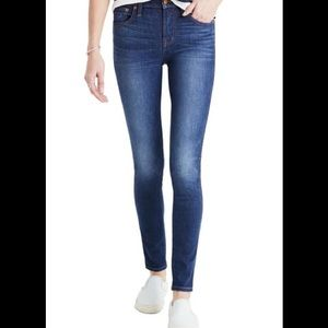 "Madewell 9"" high-rise skinny jeans Polly wash"